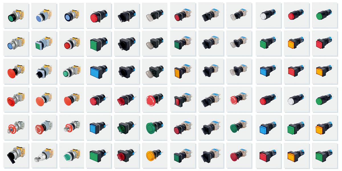 Quels sont les interrupteurs à bouton-poussoir couramment utilisés par les électriciens?